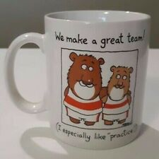 Hallmark Shoebox Greetings 1987 Coffee Mug Cup We Make a Great Team Adult Humor