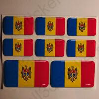 Pegatinas Moldavia Pegatina Bandera Moldavia Vinilo Adhesivo 3D Relieve Resina
