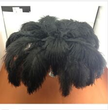 natrual 100pcs 10-12inch/25-30cm black ostrich feathers for decor wedding/Party