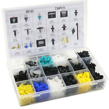 730Pcs Plastic Clips Car Push Pin Rivet Fasteners Trim Moulding Assortments