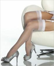 Leg Avenue Stockings Thigh High Wedding White Sheer Retro Nurse Plus Size Queen