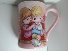 "Precious Moments Coffee Mug ""Being With You Is Easy To Do"" Raised Picture Love D"