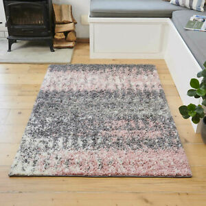Blush Flecked Shaggy Rug   Small Large Living Room Rugs   Scandi Hall Runners