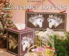 LAVENDER LOVELIES HORSE TISSUE BOX COVER PLASTIC CANVAS PATTERN INSTRUCTIONS