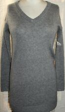 Gap Grey V Neck Tunic Sweater Dress New with Tags XS Worn as Dress or Tunic Top
