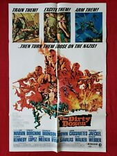 THE DIRTY DOZEN * 1967 ORIGINAL MOVIE POSTER 1SH LEE MARVIN WORLD WAR II CLASSIC