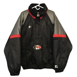 Vintage Mens Starter NFL Pro Line Pullover Jacket Tampa Bay Buccaneers Sz L