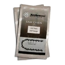 "2 x 20"" Saw Chains Fits Many Parker 62cc Chainsaw With .325 Chain"
