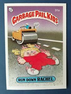 Run Down Rachel 31a UK Garbage Pail Kids Series 1(1985)Topps~NMT/MINT~Pack Fresh