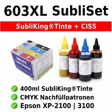 Sublimation Refill Startpaket 603XL Epson® T03A1-T03A4 | mit Auto-Reset Chips