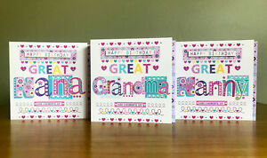 Great Nan birthday card Birthday cards for Great Nana Nanny Gran Granny Grandma