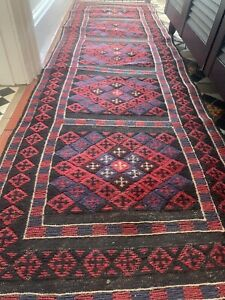 100% wool hand woven Moroccan Runner Hand Knotted And Embroidered kilim