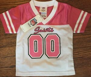 NWT New Orleans Saints Toddler Girls Jersey shirt 18 months or 2T