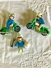 Playmobil police motorcycle green  10 pieces vintage