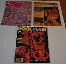 Lot of (3) ROCK Magazines (1963 Gems & Minerals) (2 1982 Rock & Gem)