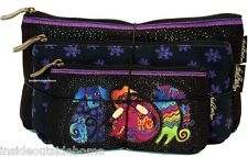 Laurel Burch Dancing Dog Doggies Makeup Bag Organizer Set of 3 + Tie String New
