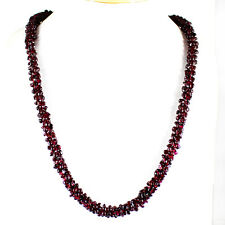 TOP ATTRACTIVE 427.05 CTS NATURAL AAA UNTREATED RICH RED GARNET BEADS NECKLACE