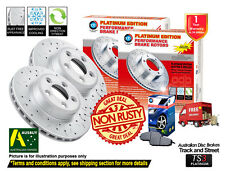 HOLDEN Captiva CG 10/06-ON FRONT REAR SLOTTED DRILLED Disc Rotors & Brake Pads