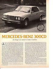 1978 MERCEDES-BENZ 300CD  ~  ORIGINAL 3-PAGE ROAD TEST / ARTICLE / AD