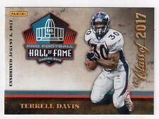 Terrell Davis Panini NFL Pro Football Hall of Fame Class of 2017 Card HOF