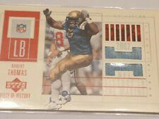 2002 Upper Deck Robert Thomas Rookie Jersey Card. St Louis Rams/1500