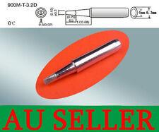 SOLDER SOLDERING IRON STATION Tip 900M-T-3.2D Rework Lead Free 936 969for  AU