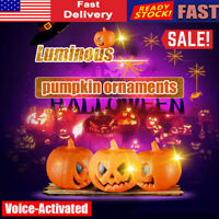 Halloween LED Voice-Activated Pumpkin Lamp Luminous Party Decor Singing Ornament
