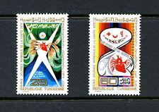 H148  Tunisia 1972  World Health Day hearts  2v.   MNH
