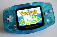 Game Boy Advance IPS V2 Console - Clear Blue (+ Adjustable Brightness)