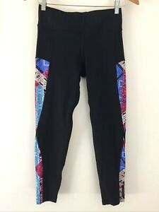 Seafolly Leggings Size S Black Activewear Gym Fitness Yoga Running Womens