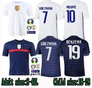 Euro 2020/21 France jersey of Mbappe, Griezmann and Benzema