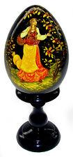 Conte Russe oeuf en bois peint, Oeuf Collection Russe Cadeau original