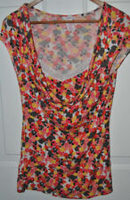NEW CANDIE'S BRIGHT FLORAL KNIT TOP SIZE MEDIUM