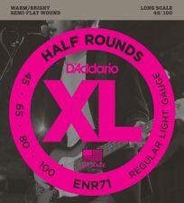 D'Addario ENR71 Half Round Bass Guitar Strings, Regular Light, 45-100 Long Scale