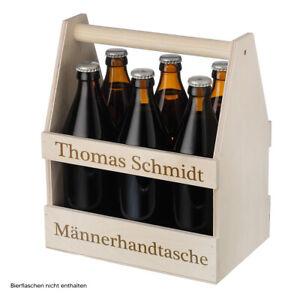 Männerhandtasche Bierträger mit Wunschgravur - 6 Flaschen