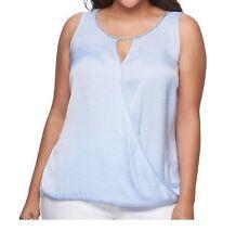 Jennifer Lopez Women Lilac Sleeveless Embellished Blouse Tank Top Plus Sz 0X NWT
