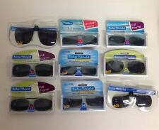 Wholesale Lot- 50 SOLAR SHIELD Polarized Clip-On Sunglass Lenses  Asstd. Styles
