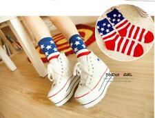 women American Flag print Stars & Stripes USA middle Socks