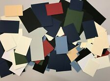 MOUNTBOARD 90 PIECES ASSORTED SIZES AND COLOURS FOR CRAFTS MOUNT BOARD CARD