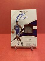 Buddy Hield 2018-19 Panini Immaculate Sneaker Swatch Autograph /25 Thick Card