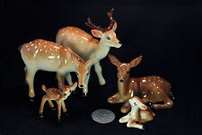 Miniature Ceramic Animals Family deer Figurine Statue Decorative Collectibles