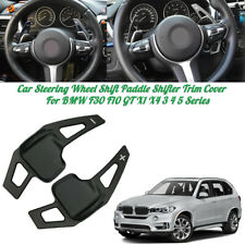 2X For BMW 3 5 Series i8 F10 F30 Black Steering Wheel Shift Paddle Blade Shifter