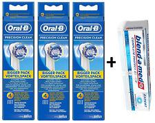 12x Oral-B Precision Clean Aufsteckbürsten + blendamed Gesundes Weiss Zahnpasta