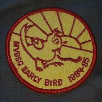 Early bird 1984-1985 MVGSC - maumee valley girl scout club patch VTG ANTIQUE