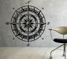 Compass Rose Wall Decal Vinyl Sticker Marine Nautical Home Art Decor (2coo2)