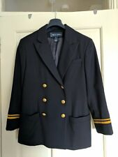 Vintage Ralph Lauren Navy Military-style Blazer US size 6 (UK 12-14)