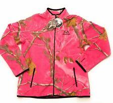 Pink Realtree Womens Large Jacket Camo Fleece NWT Black Full Zip 12-14