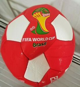 Coca Cola Soccer Ball Red and White 2014 Brazil Fifa World Cup Soccer Ball New