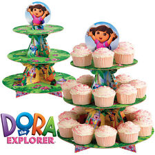 Dora the Explorer Cupcake Stand Holds 24 Cupcakes + 6 Topper Figures Wilton NIP