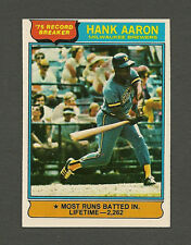 *SHARP* 1976 Topps Baseball #1 Hank Aaron RB NM+ card Near Mint+ Braves HOFer